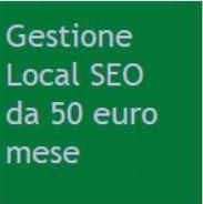 Offerta gestione Local SEO 50 euro
