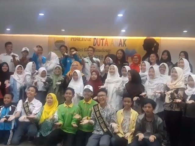 Pemilihan Duta Anak Tingkat Kota Bandung Tahun 2019