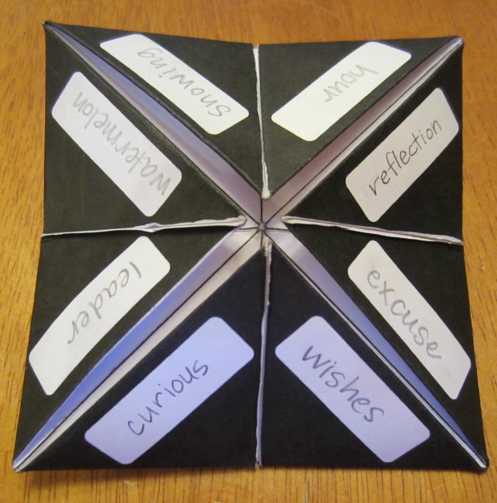 Fortune Teller Spellers! Great fortune teller templates for kids ... | 1600x1583
