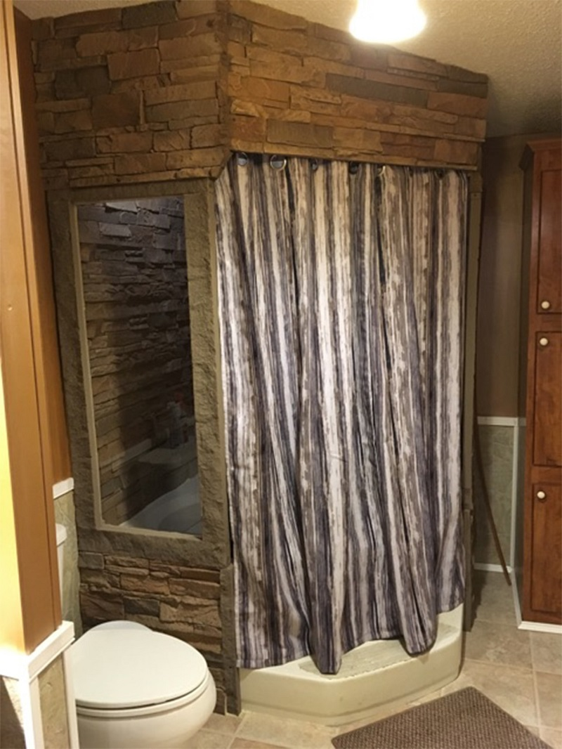 Bathroom into a Spa Retreat with Waterproof Faux Stone