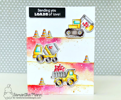 Loads of Love Card by Samantha Mann for Newton's Nook Designs, Cards, Valentine's Day, Love, Cards, Inktense Pencils, Watercolor Pencils, #newtonsnook #lovecard #cards #valentine #inktense
