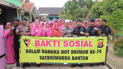 Satbrimob Polda Banten,  Anjangsana ke Warakawuri dan Purnawirawan