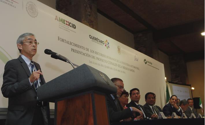 La carrera técnica de automotriz se ofertará en cuatro planteles modelo en la zona del Bajío, con un estimado de 40 alumnos por grupo. (Foto: Cortesía del Gobierno del Estado de Querétaro)