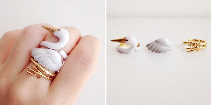 01-Crane-Mary-Lou-Three-Piece-Animal-Jewellery-Rings-www-designstack-co
