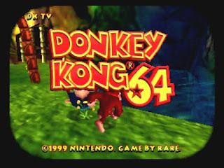 Inicio del videojuego Donkey Kong 64 para Nintendo 64, 1999 (Rare)