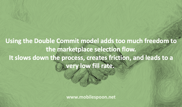 In marketplaces, too much freedom in the selection flow slows down the process, adds friction in both sides, and leads to a low fill rate.
