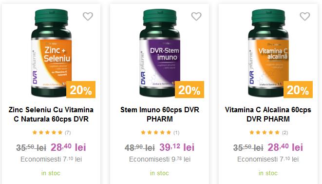 Între 15% - 30% REDUCERE la toate suplimentele și remediile DVR Pharm.