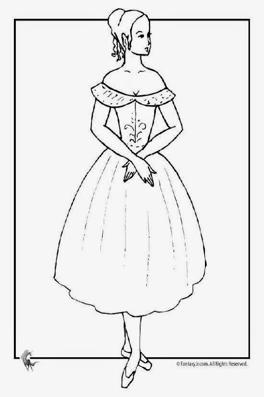 Free printable ballet coloring pages for Free ballet coloring pages