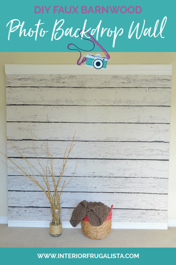DIY Faux Barnwood Photo Backdrop Wall