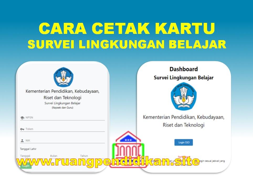 Prosedur Pengisian Dan Cara Cetak Kartu Survei