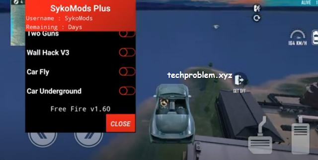 Free Fire Mod Menu SykoMods Plus Autokill Flycar Wallhack Antiban