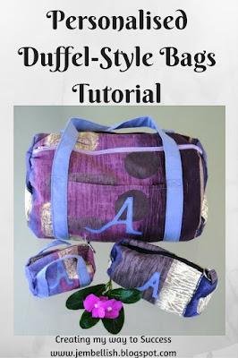 Personalised Duffel Style Bags