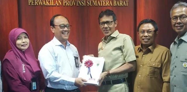 Sumbar Jadi Provinsi Tercepat Laporkan LKPD 2018