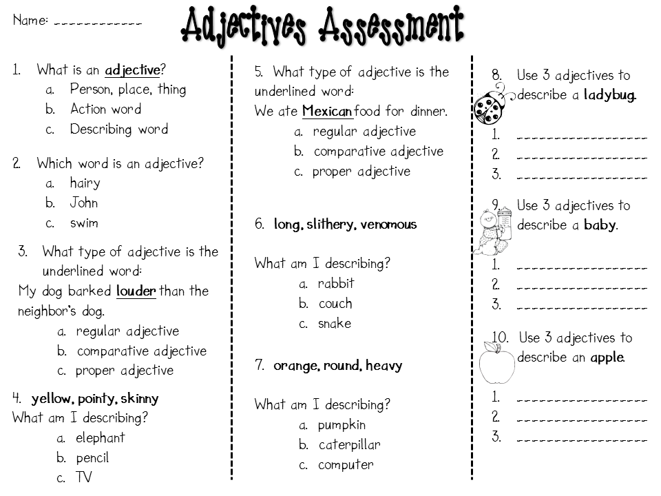Step Into 2nd Grade With Mrs Lemons Adjectives Continued