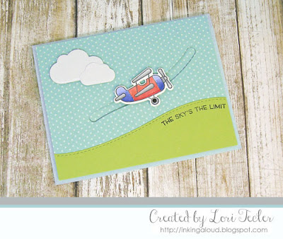 Sky's the Limit card-designed by Lori Tecler/Inking Aloud-stamps from Lawn Fawn