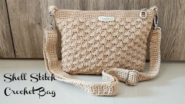shell stitch crochet bag