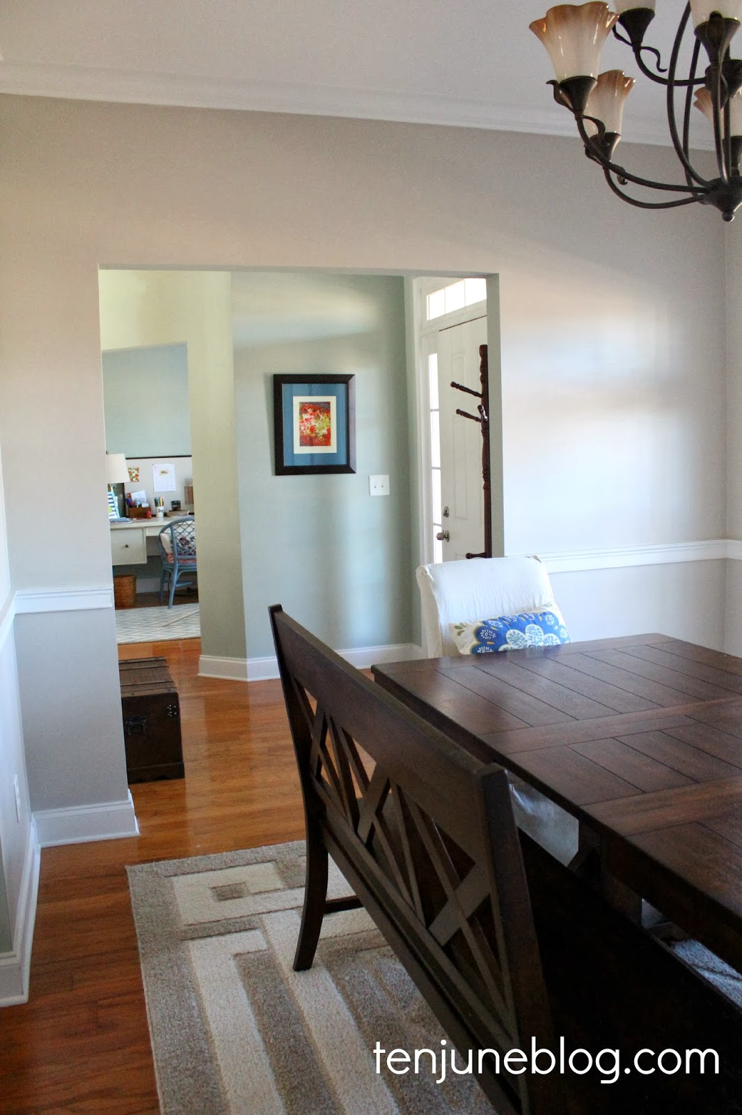 Ten June Dining Room Paint Makeover Sherwin Williams