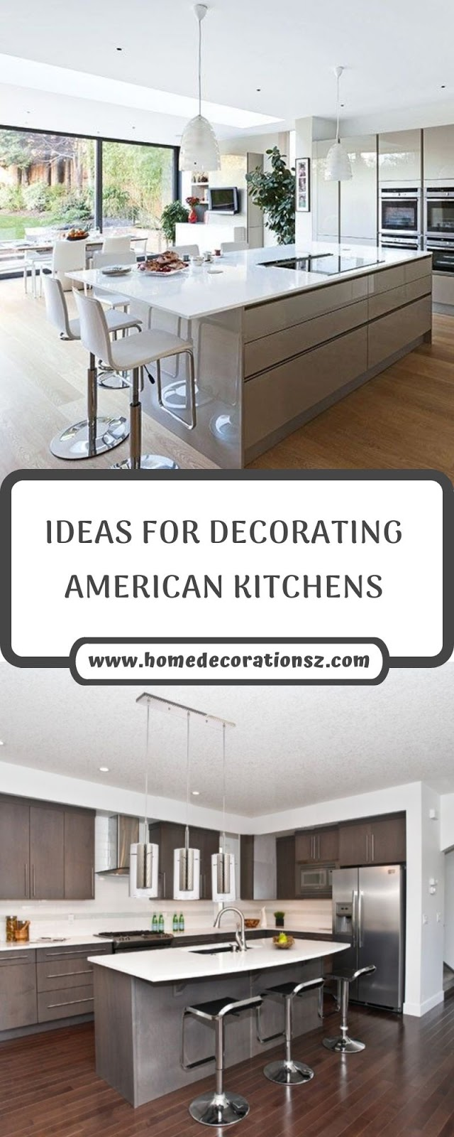 IDEAS FOR DECORATING AMERICAN KITCHENS