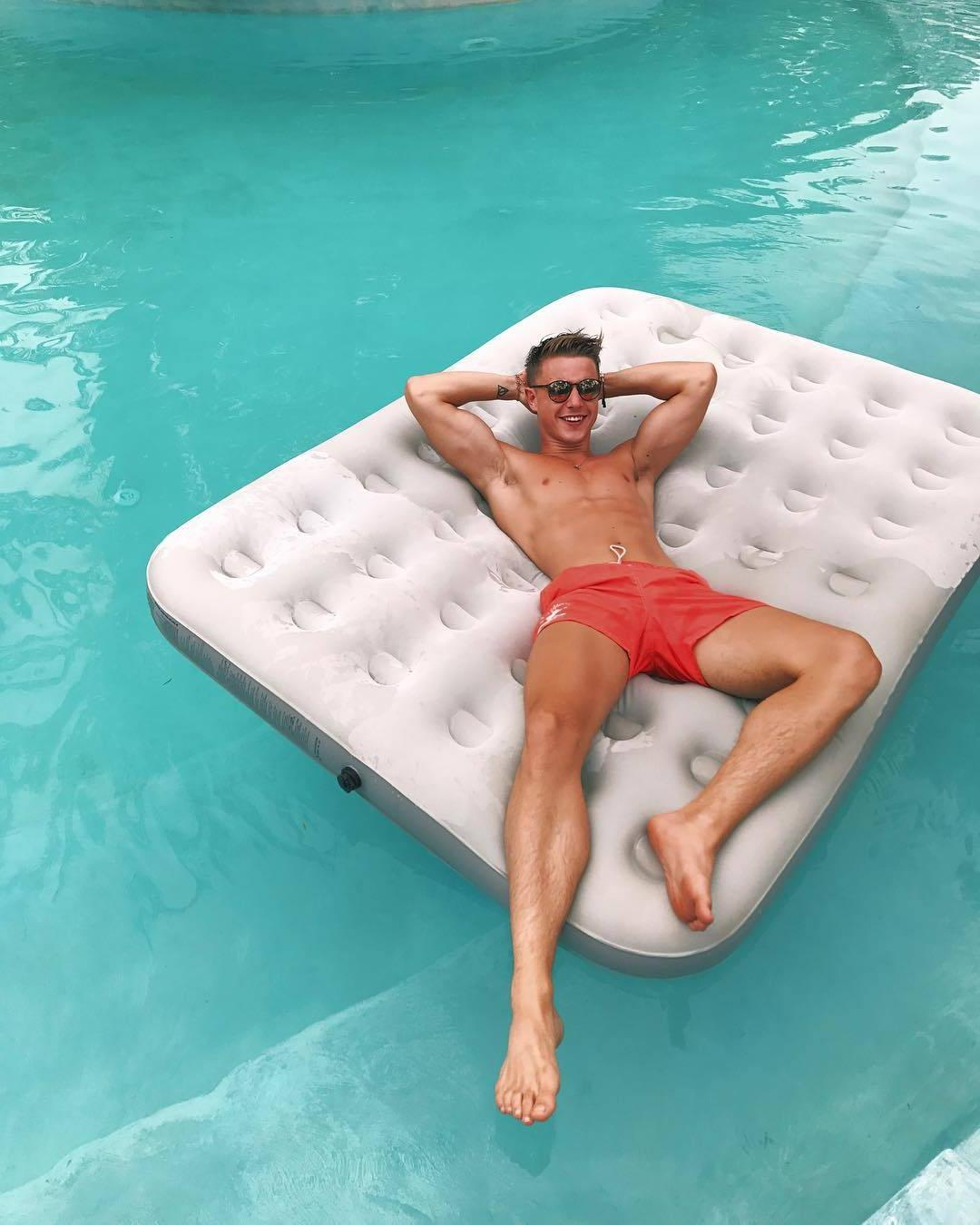 cute-shirtless-fit-dudes-sunglasses-pool-party-chillin-summer