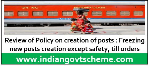Review of Policy on Creation of Posts