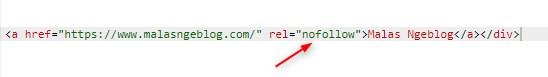 "Pengertian Backlink,atribut rel = ""nofollow"""