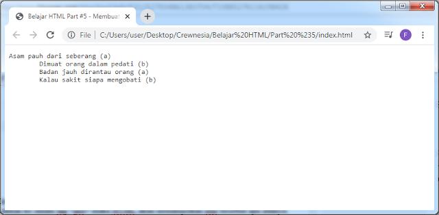 Crewnesia - Membuat Paragraf Pada HTML