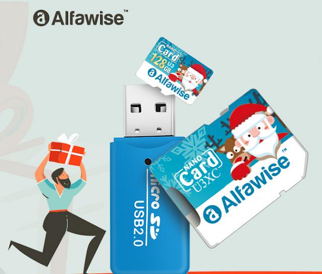 Kit de Cartão de Memória Alfawise em formato Natal!