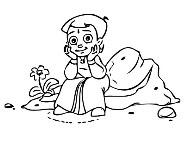 chota bheem drawing for coloring pages | Chota Bheem Coloring Pages
