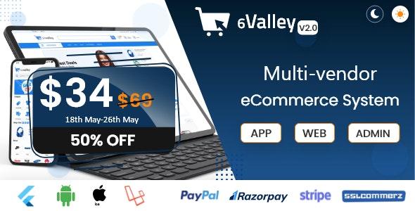 6valley Multi-Vendor E-commerce v2.0 - Complete eCommerce Mobile App, Web and Admin Panel
