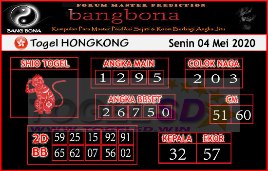 Prediksi HK 04 Mei 2020 - Bang Bona HK