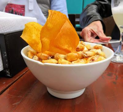 Peru Food: Roasted corn bar snacks in Lima Peru