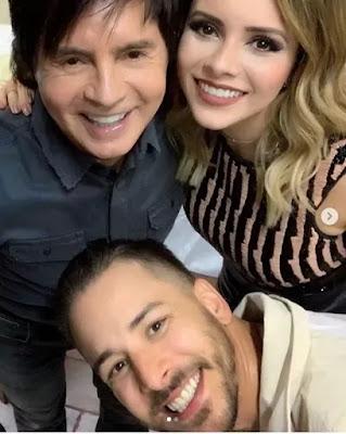 Xororó com os filhos Sandy e Júnior