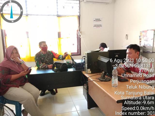 Kunjungi Kantor Kelurahan, Personel Jaajran Kodim 0208/Asahan Laksanakan Komunikasi Sosial Dengan Perangkatnya