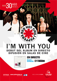 Concierto de Red Hot Chili Peppers en los cines Yelmo