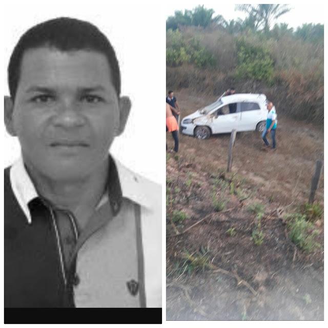 Urgente! Vereador morre em acidente automobilístico ao retornar de festa no interior do MA