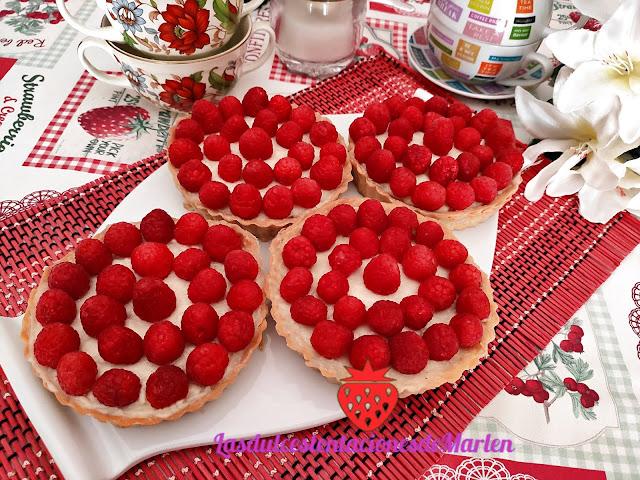 Tartaletas De Frambuesa Y Crema Pastelera