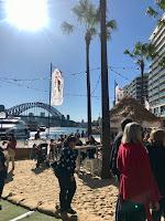 Picture of pop up beach Bastille Festival Sydney