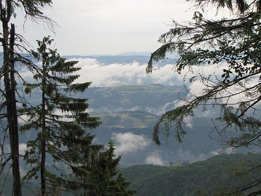 Widok ze Średniego Gronia (1225 m n.p.m.).