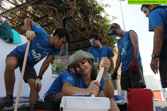 El Ayuntamiento de Santa Cruz de La Palma agradece la implicación de los jóvenes del proyecto Ruta 7 en el cuidado medioambiental del municipio