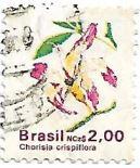 Selo Flores da Paineira na moeda Cruzados Novos