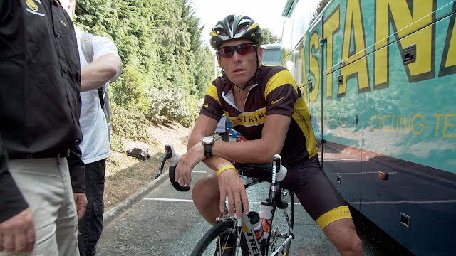 The Armstrong Lie Tour de France bicycle