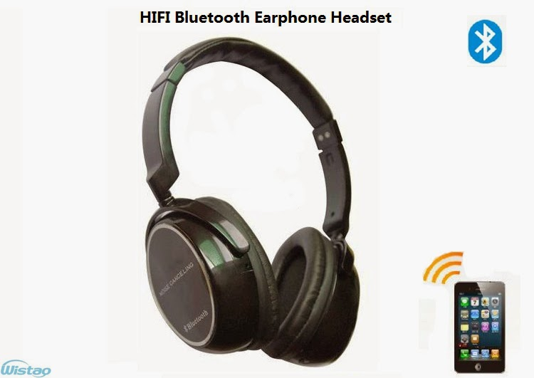 HIFI Bluetooth Earphone Stereo Headset 3.5mm AUX Input Bluetooth 2.1 CVC TTS DSP Clear Noise Reduction Effect