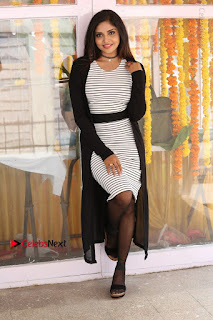 Telugu Actress Karunya Chowdary Stills in Black Dress at Soda Goli Soda Movie Opening  0156.JPG