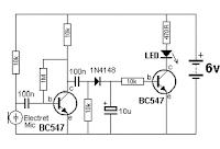 تصميم حساس الحركة او مستكشف الصوت جهاز انذار