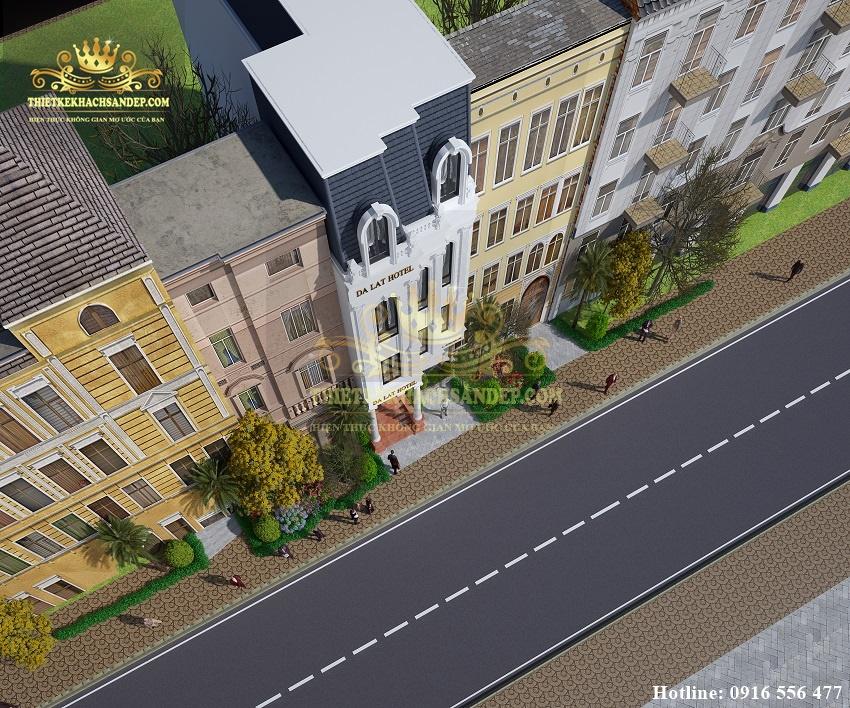 Hình ảnh: Thiết kế khách sạn đẹp tân cổ điển hoàn mỹ tại Đà Lạt