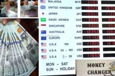 tempat penukaran dolar kota SBY, Jawa Timur