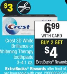 Crest Gum Toothpastes