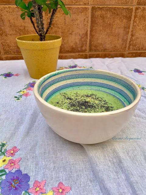 Sopa de melón y pepino
