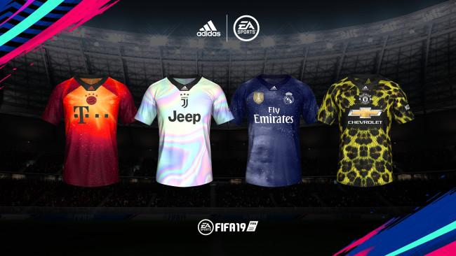 ce9602e29 FIFA 19 Adidas x EA Sports Digital 4th Kits for PES 2019 ...