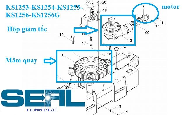 Mâm quay toa Kanglim 6 tấn KS1253-KS1254-KS1255-KS1256-KS1256G-H1015138-SISO594